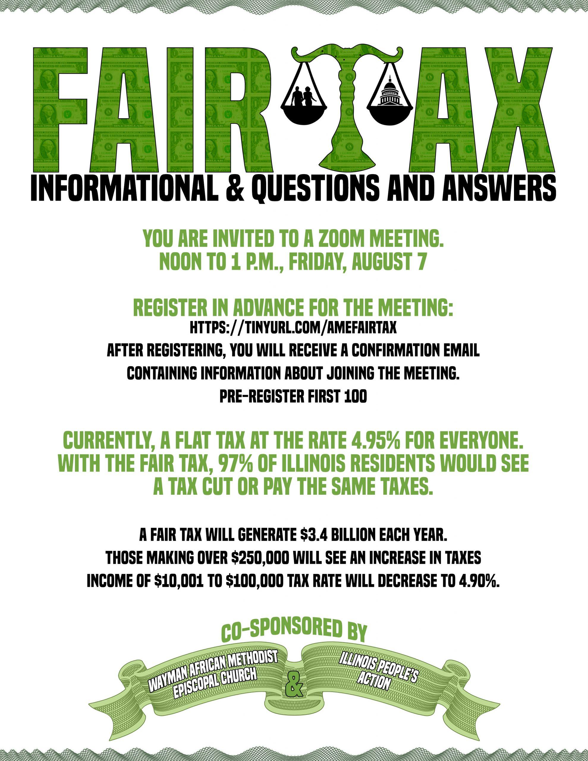 Fair Tax Flyer 02 Aug 2020